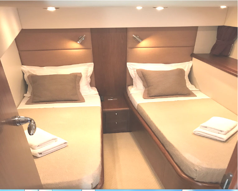 Sunseeker Portofino 1 Double Bed Cabin 1 Twin Double Bed Cabin Alpha Yachting