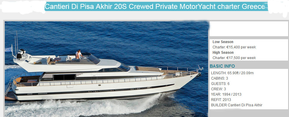 SPECIAL  OFFER FOR MOTOR YACHT CANTIERI DI PISA 66, 3 CABINS